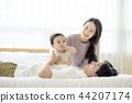 가족, 침대, 아빠 44207174