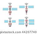 Cartoon set of satellite icons isolated on white b 44207740
