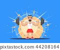 Weight Lifting athlete 44208164