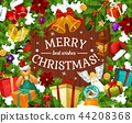 Winter holiday greeting card for Merry Christmas 44208368