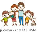 Happy family hand drawn style 44208561