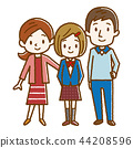 Happy family hand drawn style 44208596