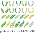 Wreath vector herald wreathed decoration with wreathen olive leaves and heraldic wreathed flaurel 44208598