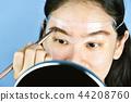 Asian woman cosmetics makeup, Eyebrows template. 44208760