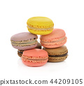 macaroons isolate on white background. 44209105