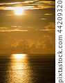 sunset, sunsets, blue 44209320