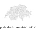 Abstract map of the Switzerland created 44209417