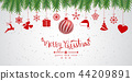 Christmas background with Christmas res balls 44209891