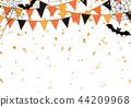 할로윈 깃발 색종이 배경 44209968
