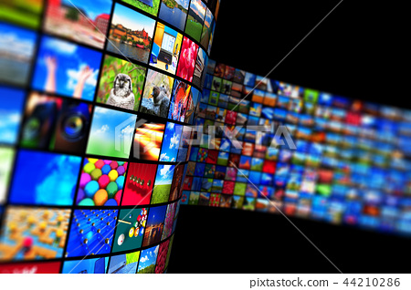 Streaming media technology and multimedia concept 44210286