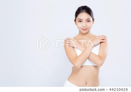 Portrait asian woman smiling beautiful body diet 44210429