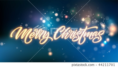 Merry Christmas neon lettering 44211701