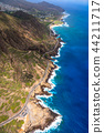 하와이, 항공 사진, 호놀룰루 44211717