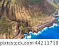 """""""夏威夷""""沿著歐胡島和檀香山東部""""空中攝影""""的方式 44211719"""