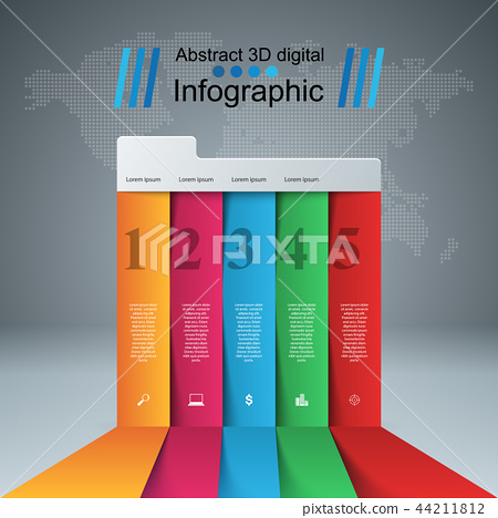 Business Infographics origami style Vector illustration. 44211812