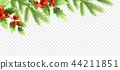 Christmas realistic decorations banner design. 44211851