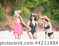 海滩 比基尼 幸福 44211884