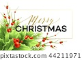 Merry Christmas greeting card vector template 44211971