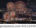 琵琶湖大型烟花,水上烟花 44212449