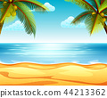 the tropical beach view with the sandy beach  44213362