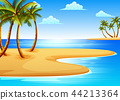 the beautiful tropical beach  44213364
