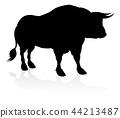 bull silhouette cattle 44213487