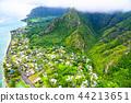 """""""夏威夷""""瓦胡島東北和山區""""航空攝影"""" 44213651"""