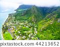"""""""夏威夷""""瓦胡島東北和山區""""航空攝影"""" 44213652"""