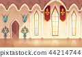 Vector hall in medieval castle, royal ballroom 44214744