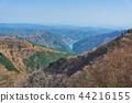 Ariyama dam and Lake Naguri from Arimasu Pass in Saitama Prefecture 44216155