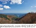 Ariyama dam and Lake Naguri from Arimasu Pass in Saitama Prefecture 44216157