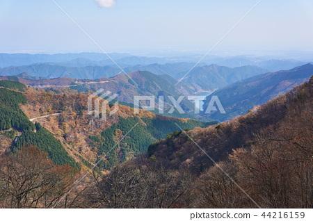 Ariyama dam and Lake Naguri from Arimasu Pass in Saitama Prefecture 44216159