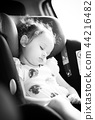 Safety Concept of baby in car seat. 44216482