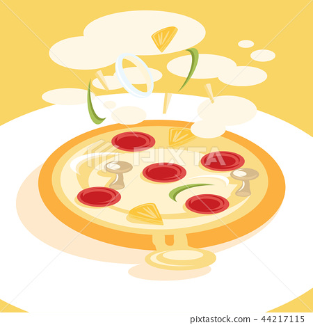 fresh cooking pizza illustration 44217115