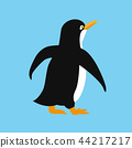 cute penguin animal icon antarctic bird on a blue background 44217217