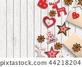 Christmas background, small scandinavian styled 44218204