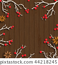Christmas background in rustic style, white 44218245