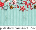 Christmas background, small scandinavian styled 44218247