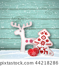 christmas, scandinavian, background 44218286
