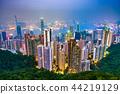 Hong Kong, China Skyline 44219129