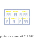Baseball scoreboard icon 44219302