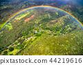 """""""夏威夷""""彩虹環從天空看到,歐胡島內陸""""航拍"""" 44219616"""
