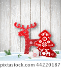 Christmas background, small scandinavian styled 44220187
