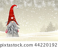 Scandinavian christmas traditional gnome, Tomte 44220192