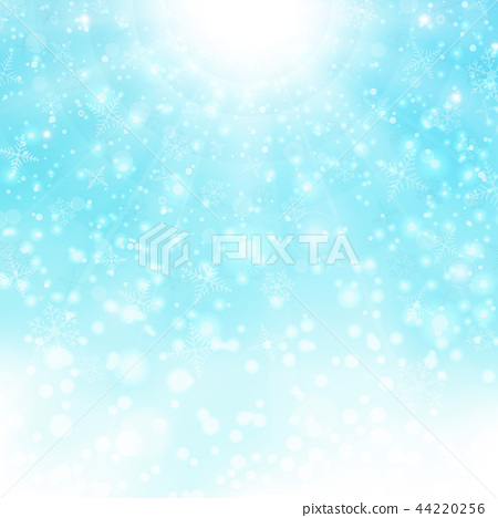 Christmas background of bright snowflake colorful. 44220256