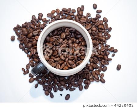 咖啡杯與咖啡豆 44220405