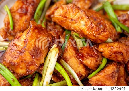 蔥燒 醬燒 魚片 鯛魚 魚柳 醤油葱たら焼き魚 stewed fish slices 44220901