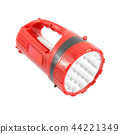Red plastic pocket handle flashlight. 44221349