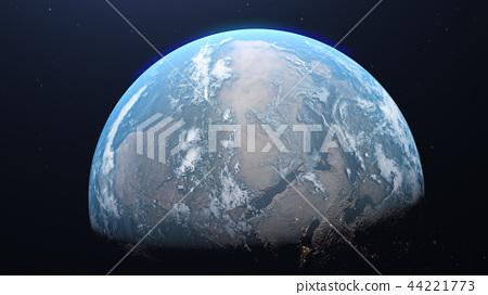 地球儀 土地 土 44221773