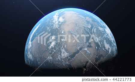 Earth 3DCG perming3DCG160812插圖素材 44221773
